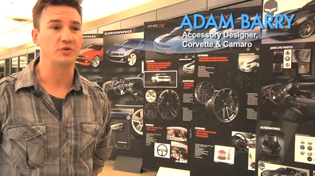 Adam Barry, accessory designer for Corvette and Camaro