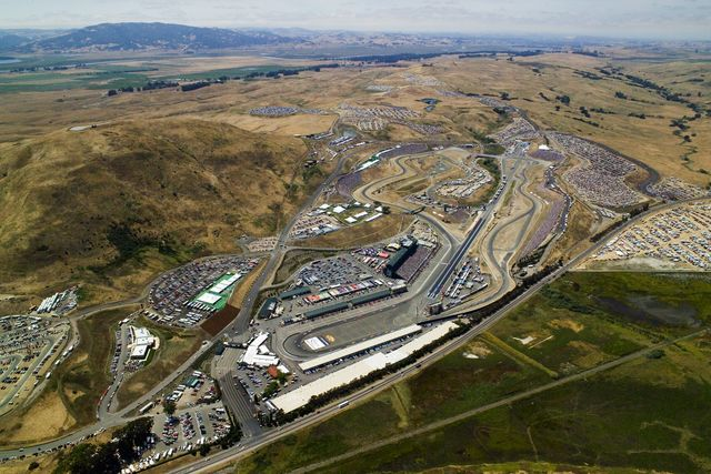 Aerial view of Sonoma, formerly known as Infineon Raceway