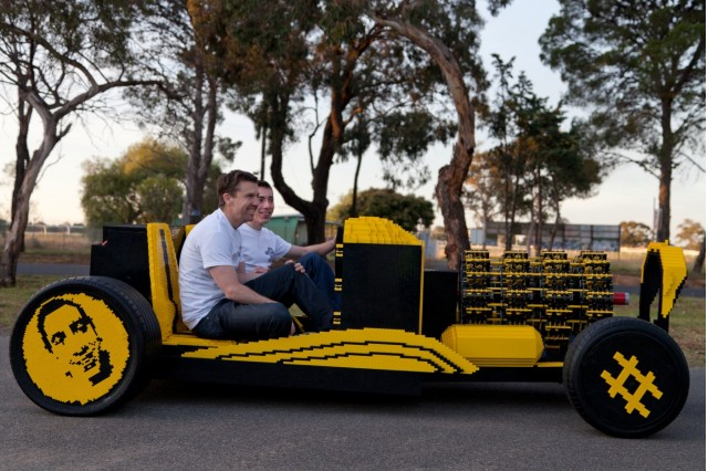 Air-powered Lego hot rod. Images: Josh Rowe via Super Awesome Micro Project