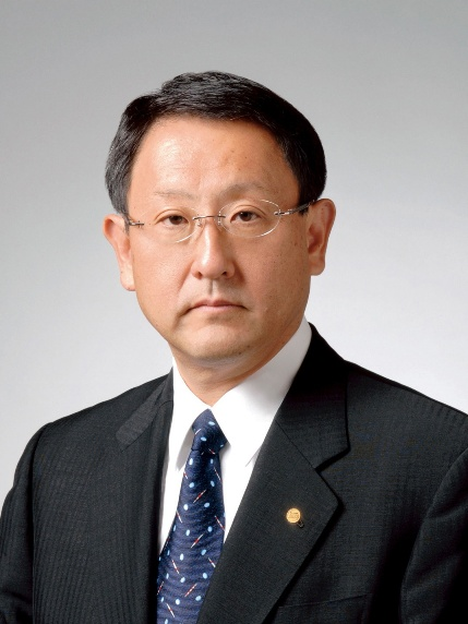 Akio Toyoda, founder's grandson, and Toyota President