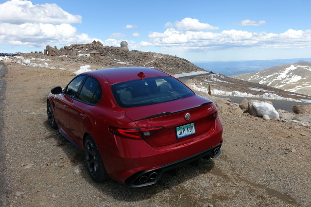 2017 Alfa Romeo Giulia on the Mt. Evans Scenic Byway