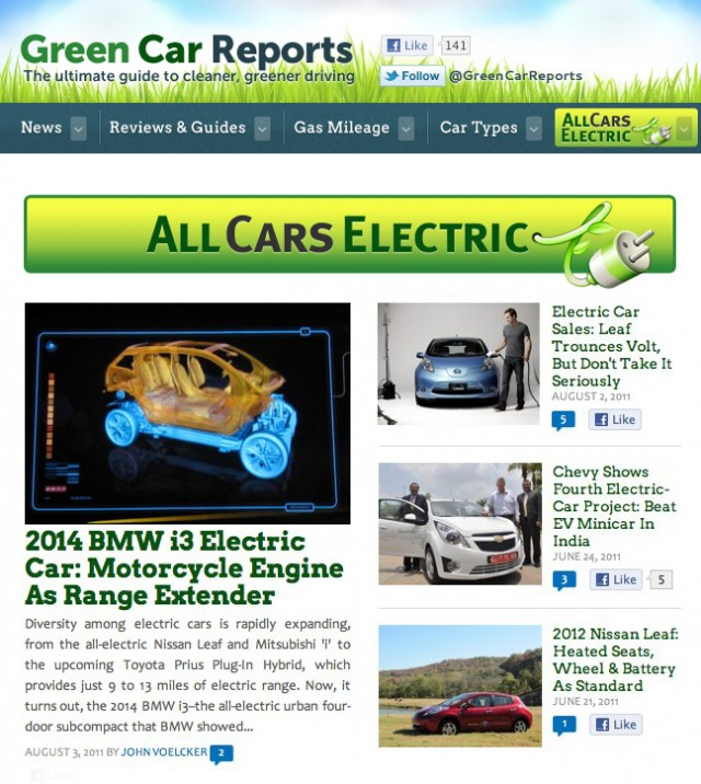 All Cars Electric's new home on the Internet