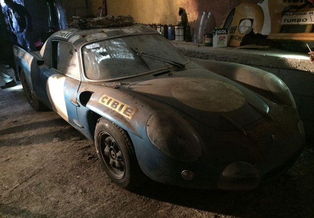 Image result for Historic Alpine Le Mans prototype preserved in French shed