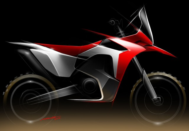 An artist's rendering of the Honda CRF450X