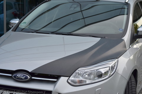 An experimental CFRP hood developed for the Ford Focus