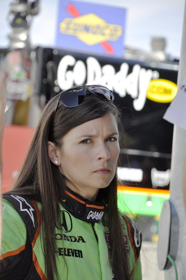 Danica Patrick at the IZOD IndyCar Series finale on the 1.5-mile Las Vegas Motor Speedway oval