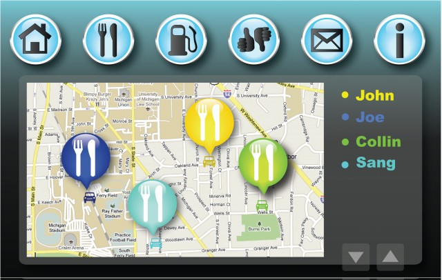 App preview from Ford & U Mich's 'Cloud Computing in the Commute' project