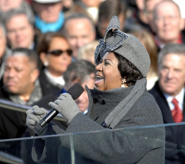 Aretha Franklin, at Barack Obama's inaguration.