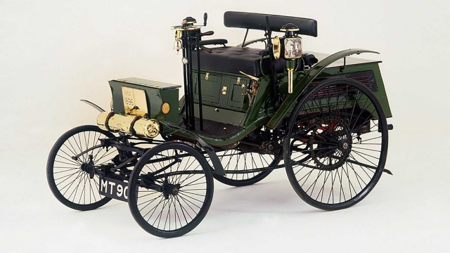 1896 Arnold Benz Motor Carriage alleged to be first car to be caught speeding