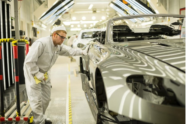 Aston Martin production facility in Gaydon, England
