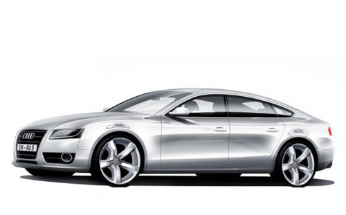 Audi A7 official preview sketch