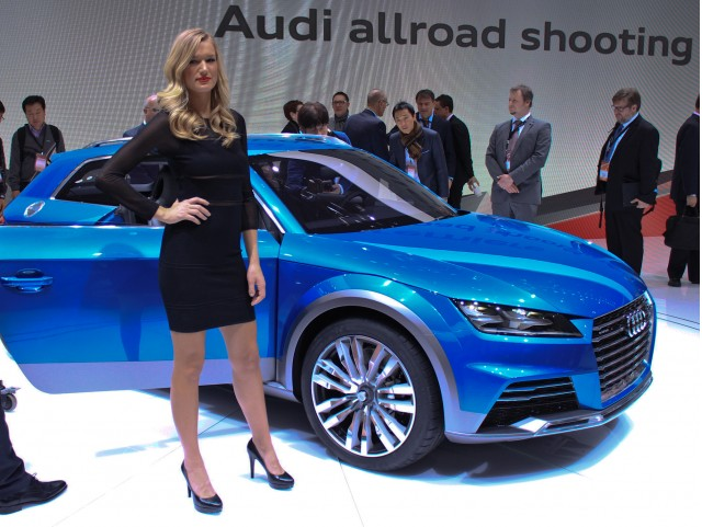 Audi Allroad Shooting Brake Concept live photos, 2014 Detroit Auto Show