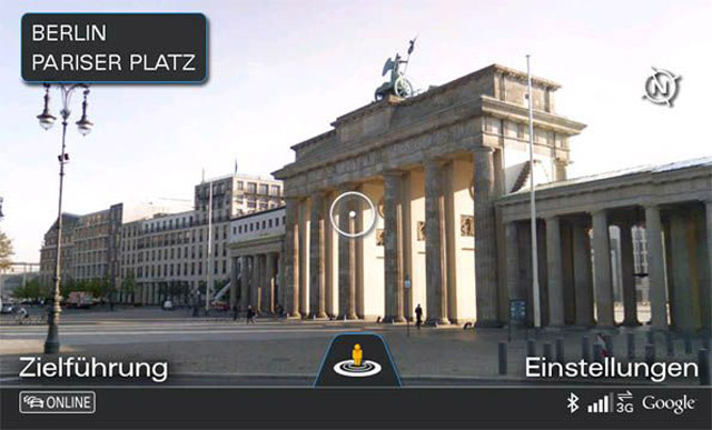 Audi Connect with Google Street View
