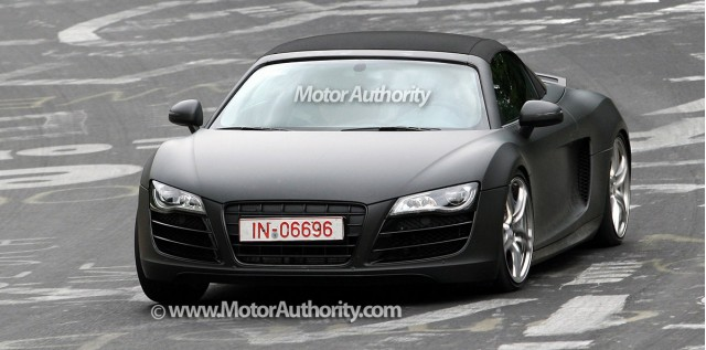 audi r8 spider spy shots nurburgring 001
