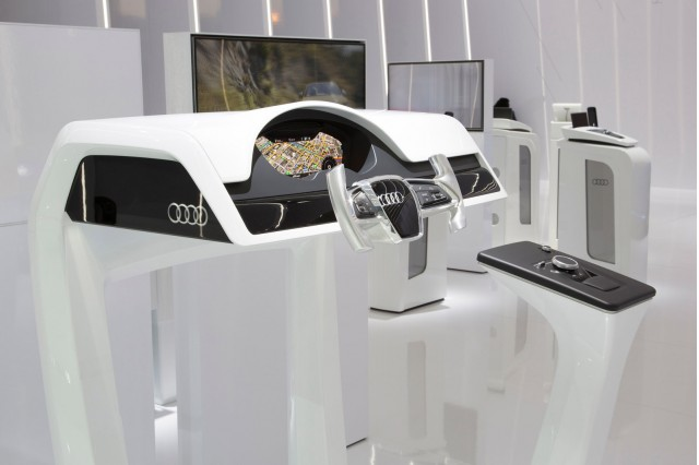 Audi stand at the 2015 Consumer Electronics Show