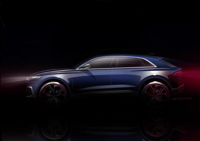 Teaser for Audi Q8 concept debuting at 2017 Detroit auto show