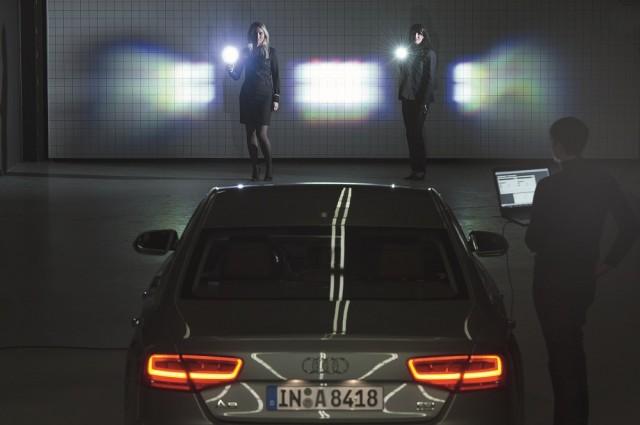 Audi's matrix-beam LED lighting