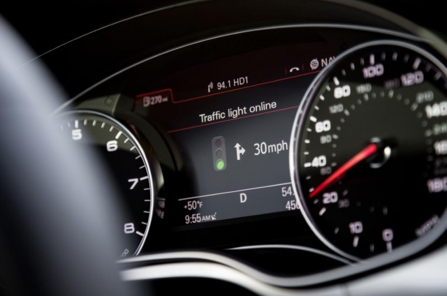 Audi's online traffic light information system