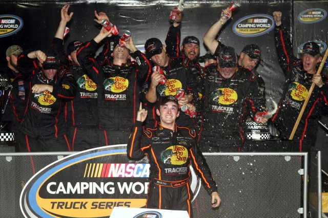 Austin Dillon celebrates his title - NASCAR photo