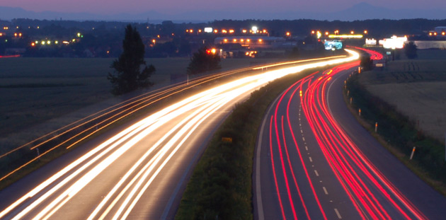 Tiny piezoelectric crystals embedded in the road generate electricity when driven over