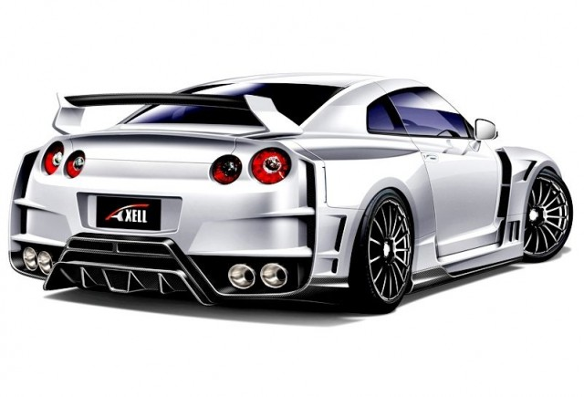 Axell Auto wide-body Nissan GT-R sketch