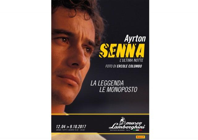 Ayrton Senna exhibit at the Lamborghini Museum