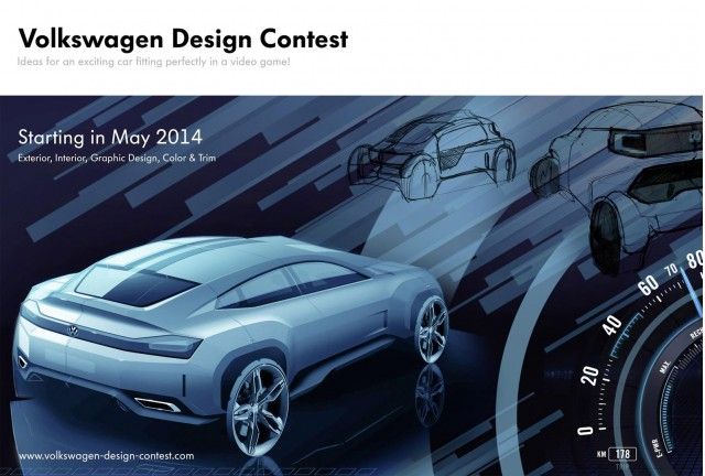 Banner for Volkswagen design contest