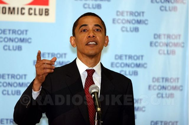 Barack Obama in Detroit
