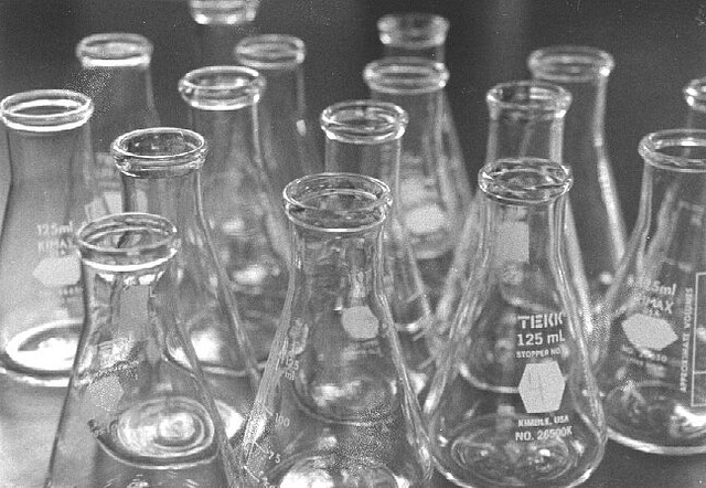 Beakers (Flickr user Move The Clouds)