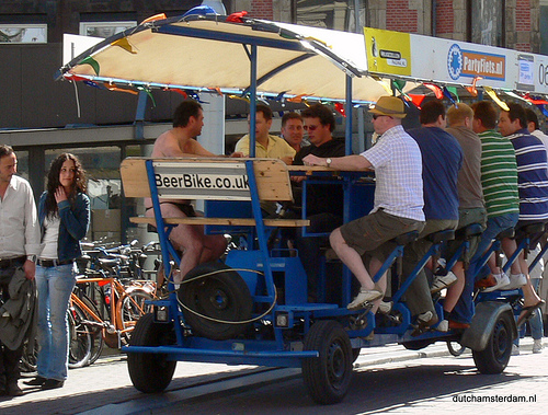 Beer bike in Amsterdam by Flickr user dutchamsterdam.nl