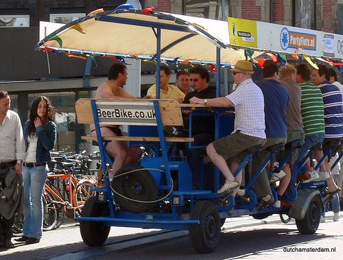 Beer bike in Amsterdam by Flickr user dutchamsterdam.nl