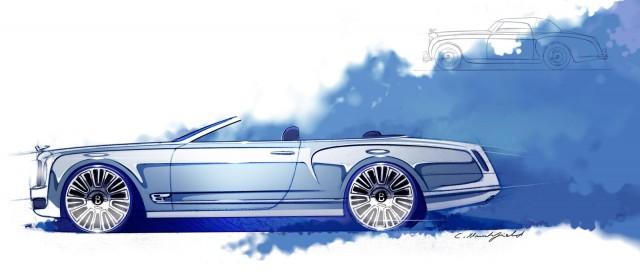 Bentley Mulsanne Convertible Concept preview sketches