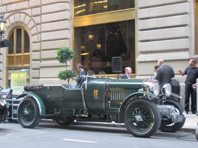 Bentley Speed Six outside St. Regis Hotel, New York City