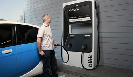 Blink EV charging point at IKEA store