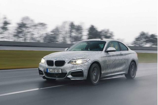 BMW 2-Series ConnectedDrive prototype demonstrating ActiveAssist, 2014 Consumer Electronics Show