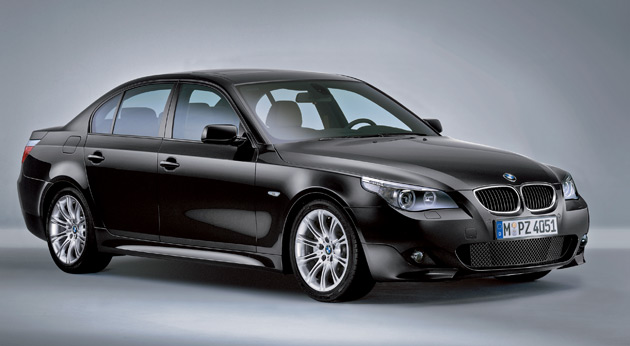 The 128i, 550i, and all 3-series except the 335d are able to fit the latest M-Sport kits