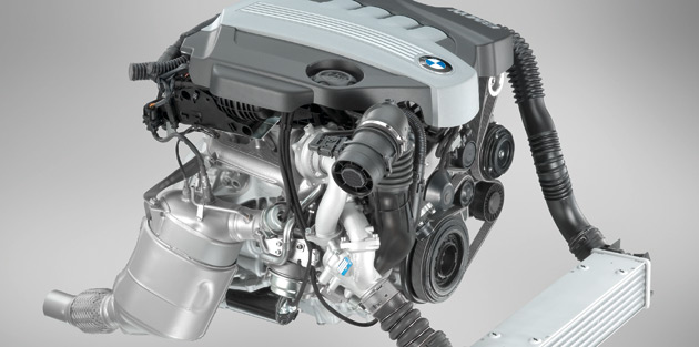 BMW is working on a twin-turbo four-cylinder with as much power as a six but with better fuel-economy and lower emissions