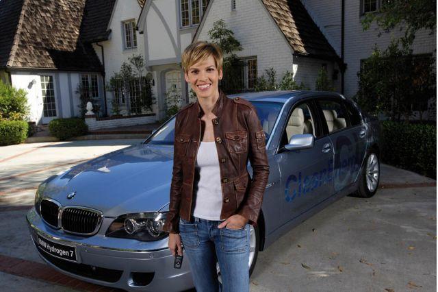 BMW Hydrogen 7 Hilary Swank