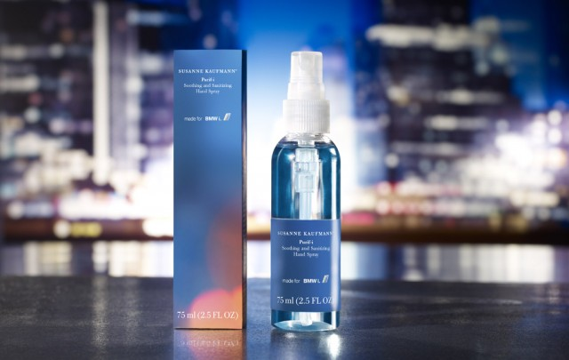 BMW i Purif-I hand sanitizer by Susanne Kaufmann Cosmetics