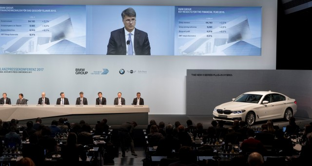 BMW press conference in Munich, Germany - March 21, 2017
