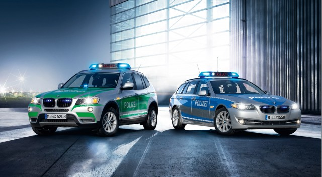 BMW X3 and 5-Series police vehicles