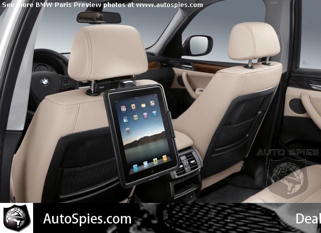 BMW iPad dock (Paris 2010 preview via AutoSpies)