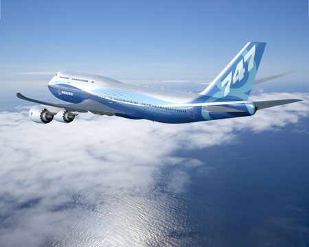 Boeing 747-8 Intercontinental jet airliner