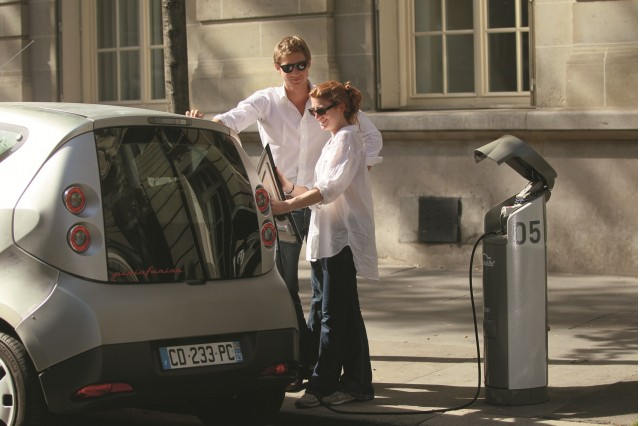 Bolloré BlueCar electric car used for Autolib' car-sharing service in Paris, September 2012