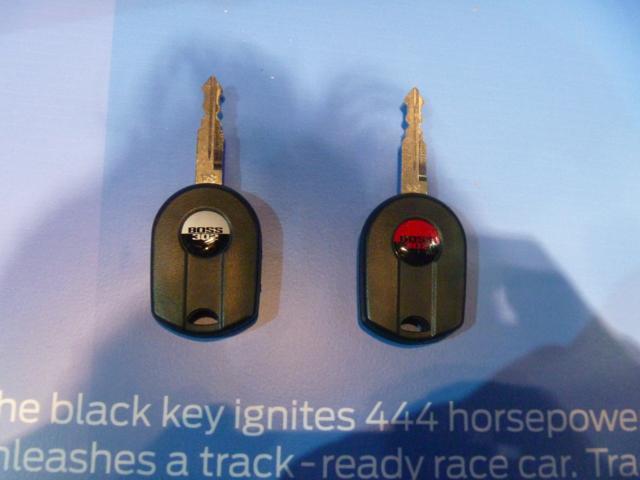 Boss Mustang Track Key
