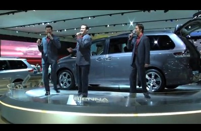 Boyota, performing at the Toyota Sienna display during the 2010 Detroit Auto Show