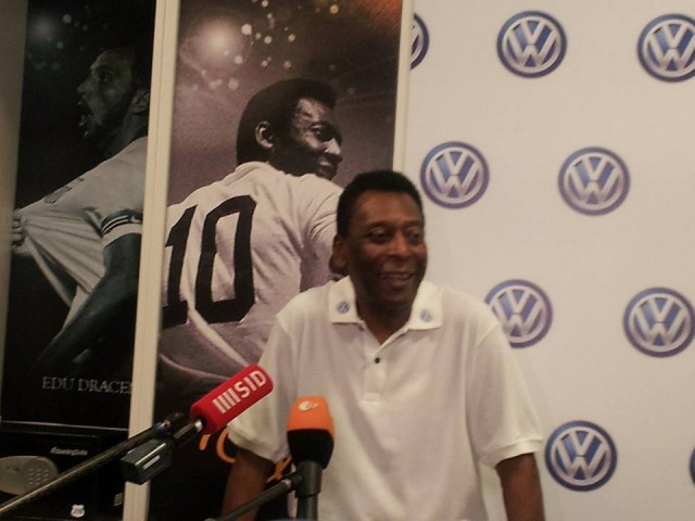 Brazilian soccer legend and World Cup champion Pelé