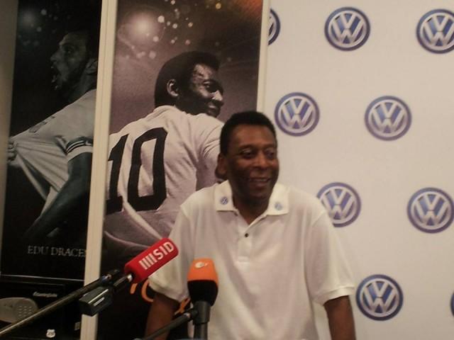Brazilian soccer legend and World Cup champion Pelé