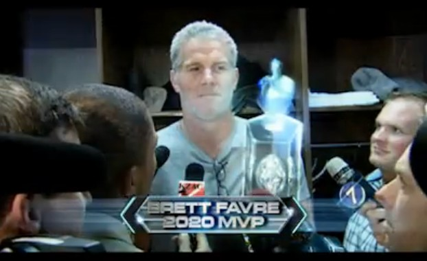 Brett Favre in 2011 Hyundai Sonata ad from Super Bowl 2010