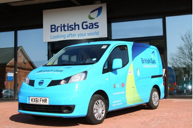 British Gas Nissan eNV200 electric van